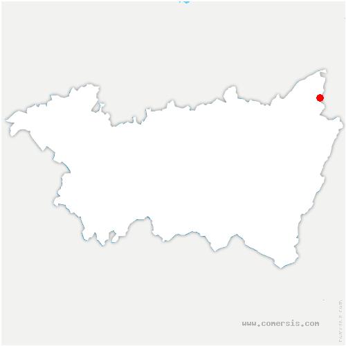 carte de localisation de Saulcy