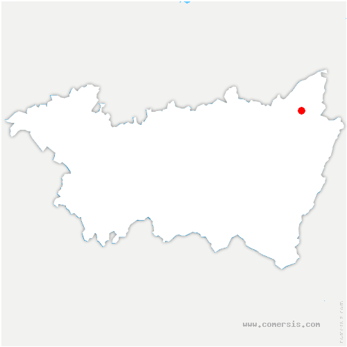 carte de localisation de Senones