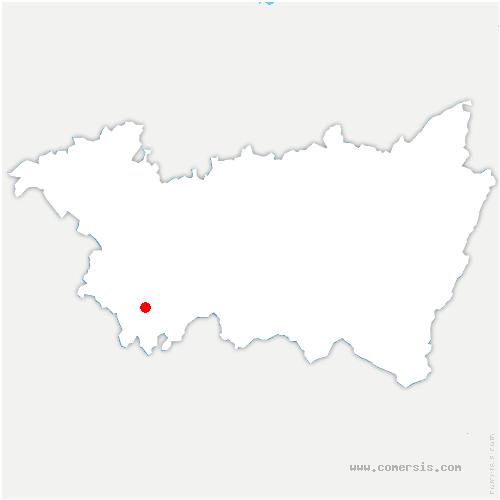 carte de localisation de Serécourt