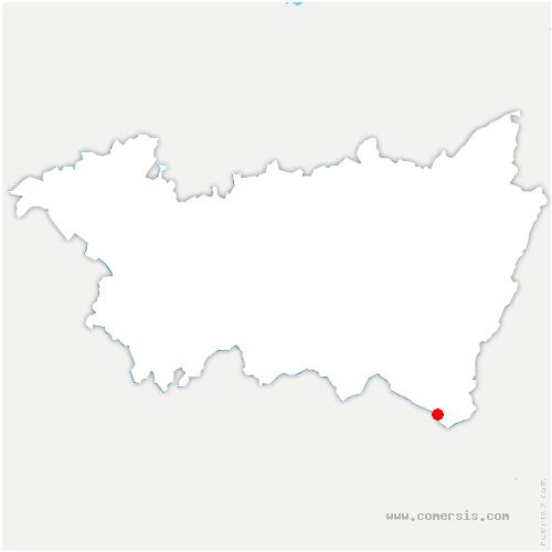 carte de localisation de Thillot