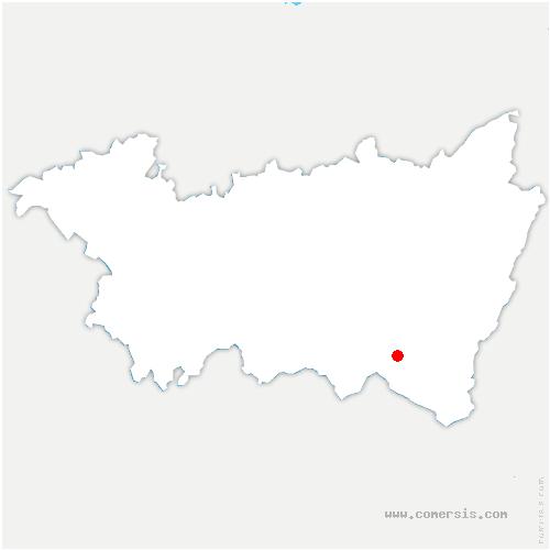 carte de localisation de Vecoux