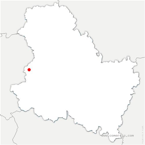 carte de localisation de Charny-Orée-de-Puisaye