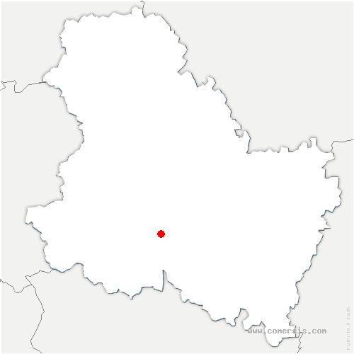 carte de localisation de Coulangeron