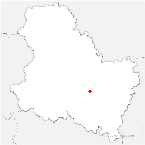 carte de localisation de Deux Rivières