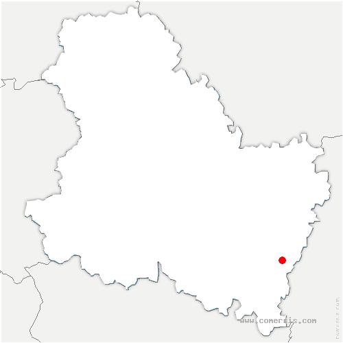 carte de localisation de Guillon-Terre-Plaine