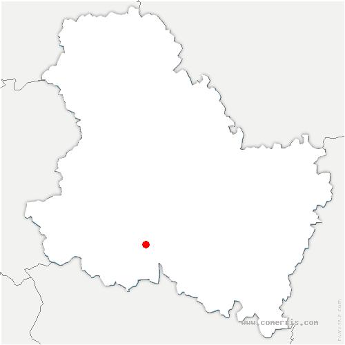 carte de localisation de Les Hauts de Forterre