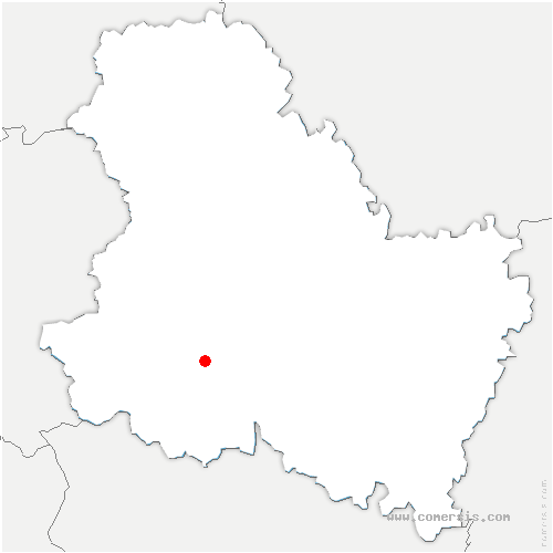 carte de localisation de Leugny
