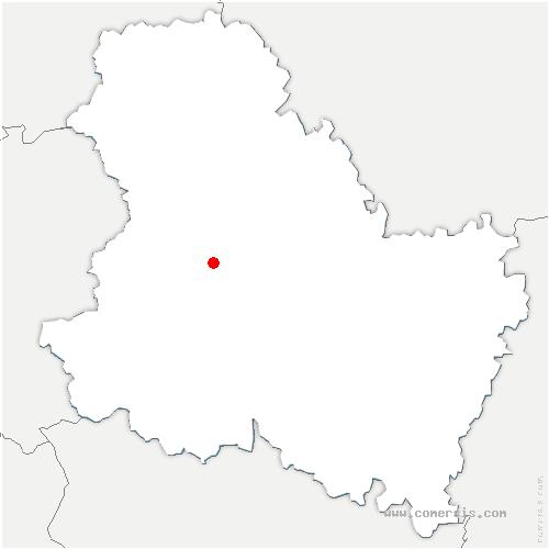 carte de localisation de Montholon