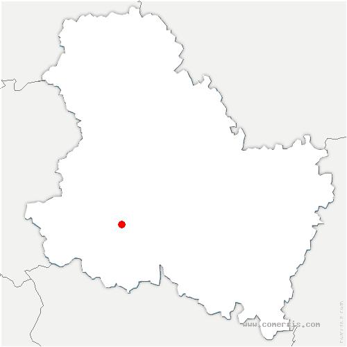 carte de localisation de Moulins-sur-Ouanne
