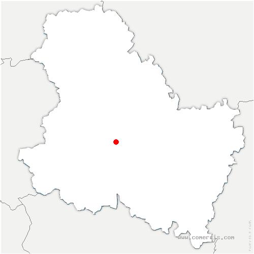 carte de localisation de Saint-Georges-sur-Baulche