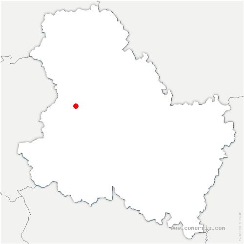carte de localisation de Sépeaux-Saint-Romain