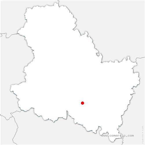 carte de localisation de Sery
