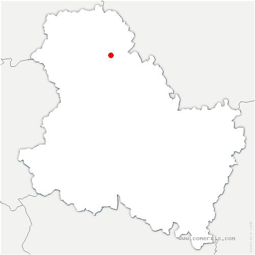 carte de localisation de Vallées-de-la-Vanne