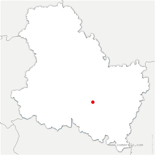 carte de localisation de Vermenton