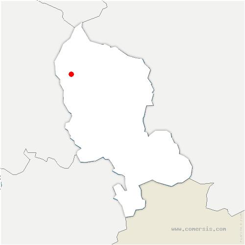 carte de localisation de Auxelles-Bas