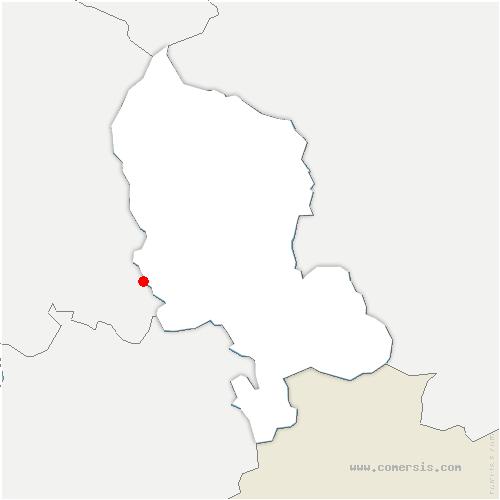 carte de localisation de Banvillars