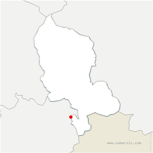 carte de localisation de Beaucourt