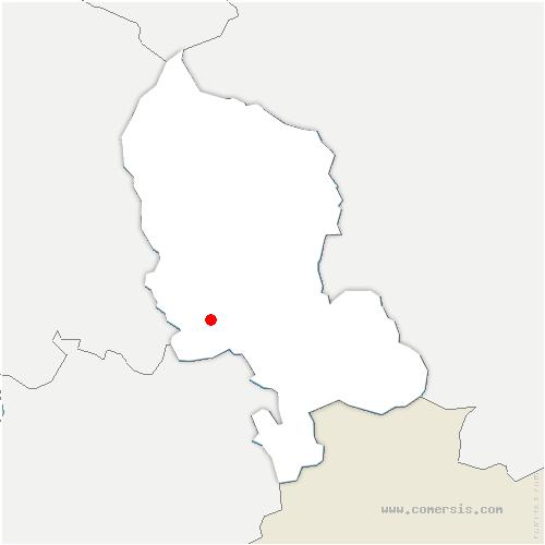 carte de localisation de Bermont