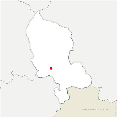 carte de localisation de Bourogne