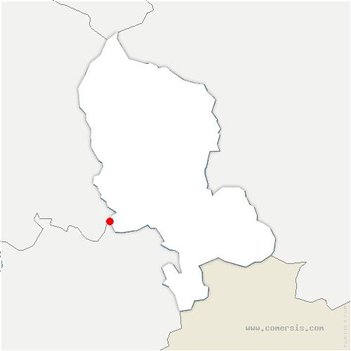 carte de localisation de Châtenois-les-Forges