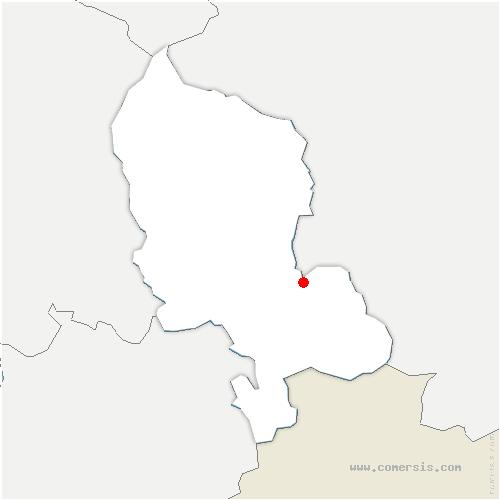 carte de localisation de Chavannes-les-Grands