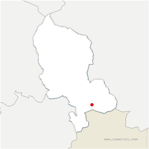 carte de localisation de Delle
