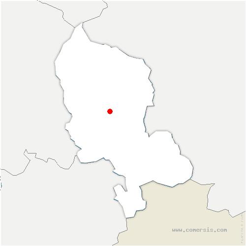 carte de localisation de Denney