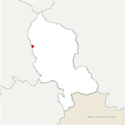 carte de localisation de Évette-Salbert