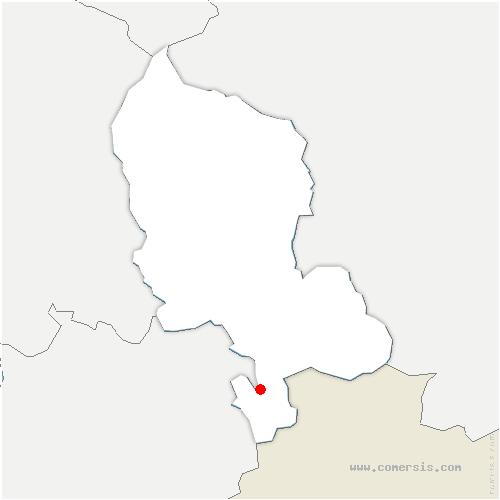 carte de localisation de Fêche-l'Église