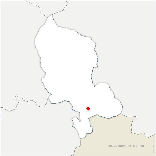 carte de localisation de Grandvillars