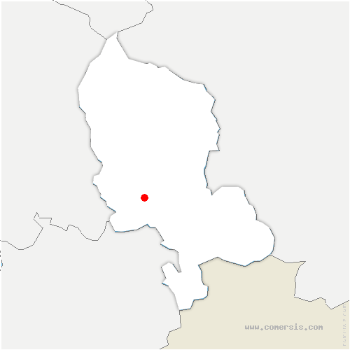 carte de localisation de Meroux-Moval