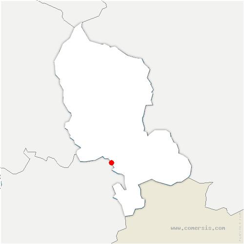 carte de localisation de Méziré
