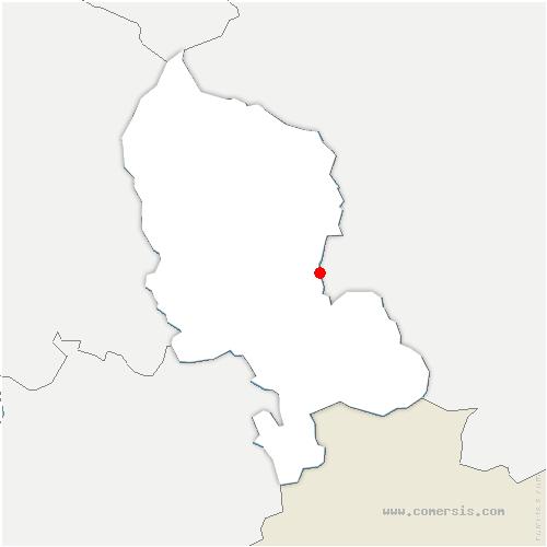 carte de localisation de Montreux-Château