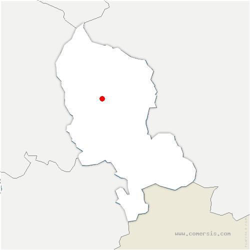 carte de localisation de Offemont