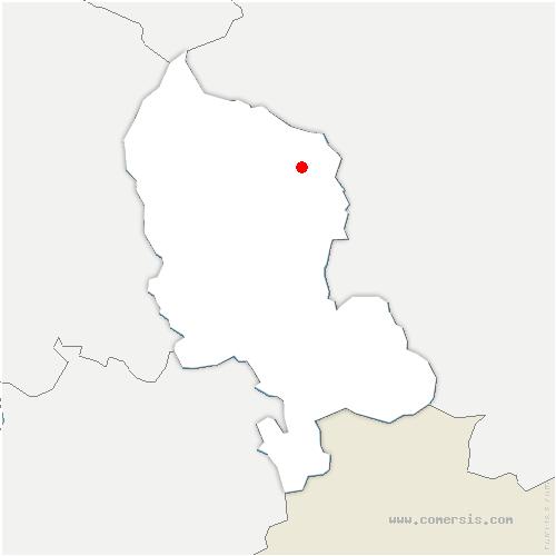 carte de localisation de Romagny-sous-Rougemont