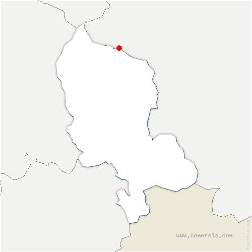 carte de localisation de Rougemont-le-Château