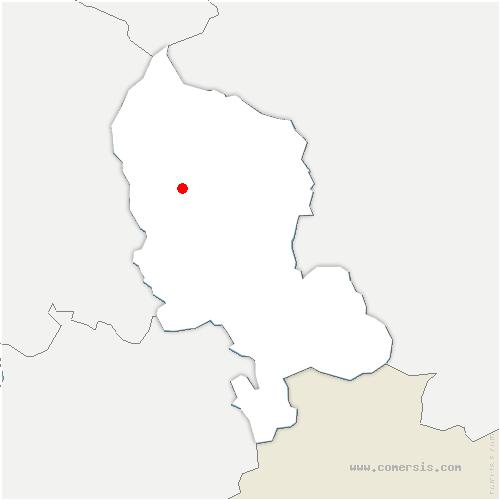 carte de localisation de Sermamagny