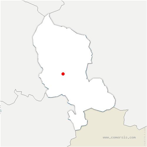 carte de localisation de Vézelois