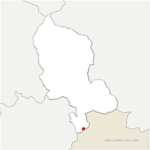 carte de localisation de Villars-le-Sec