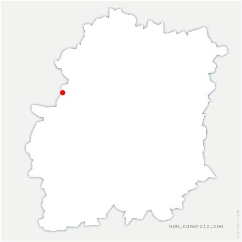 carte de localisation de Angervilliers
