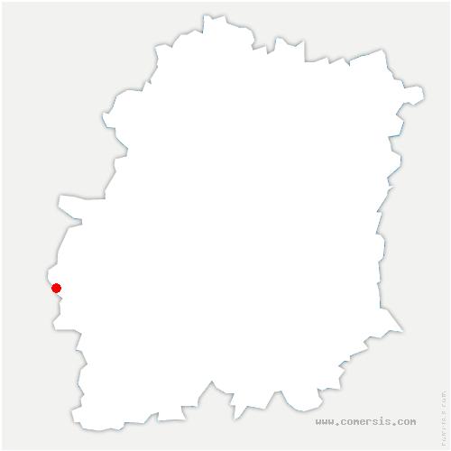 carte de localisation de Authon-la-Plaine