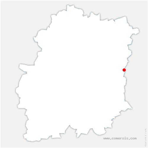 carte de localisation de Auvernaux