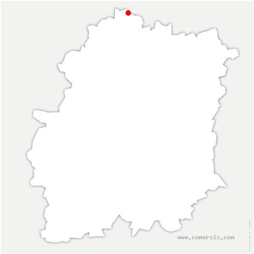 carte de localisation de Bièvres