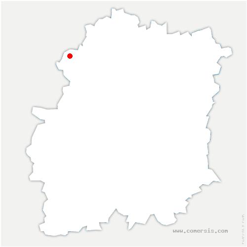 carte de localisation de Boullay-les-Troux