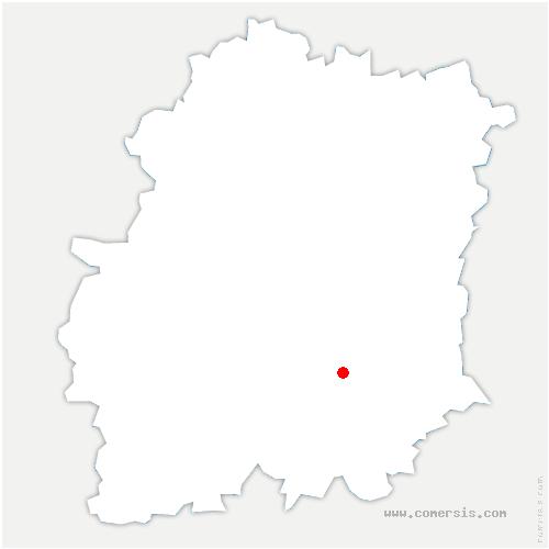 carte de localisation de Bouville