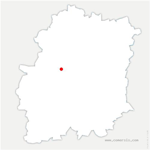 carte de localisation de Breux-Jouy