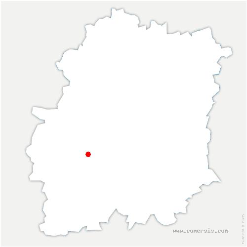 carte de localisation de Brières-les-Scellés