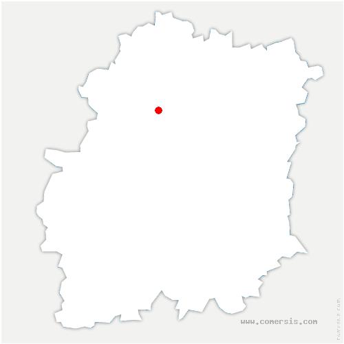 carte de localisation de Bruyères-le-Châtel