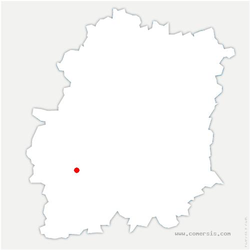carte de localisation de Chalo-Saint-Mars