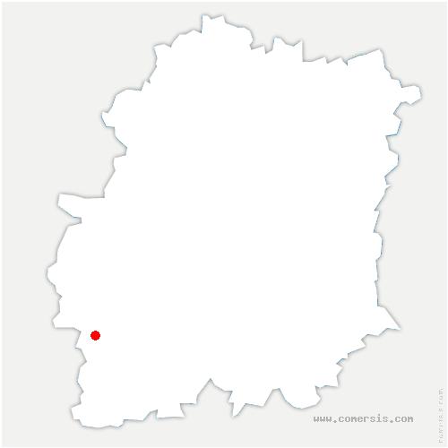 carte de localisation de Chalou-Moulineux